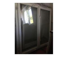Продам окна деревянные (к ним металлические решетки) (б/у)
