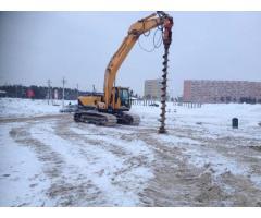 Аренда ямобура / услуги бурения по всему Крыму