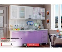 Кухня с фотопечатью Люкс Акварель