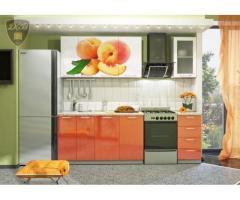 Кухня с фотопечатью Персик 1,8