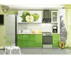 Кухня с фотопечатью Яблоко 1,8