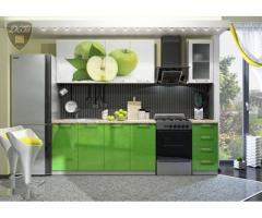 Кухня с фотопечатью Яблоко 2,0