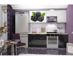 Кухня с фотопечатью Ежевика 2,1