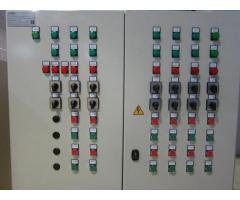 Шкафы упрааления, конвейеры, наксосы, редукторы, электродвигатели