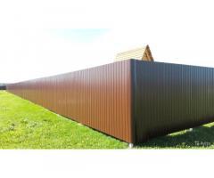 Забор из профнастила, ремонт и установка