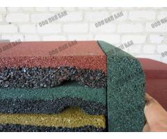 Плитка резиновая 500х500х40 зеленая - Фотографии 1/2