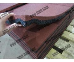 Плитка резиновая 500х500х40 терракотовая - Фотографии 2/2