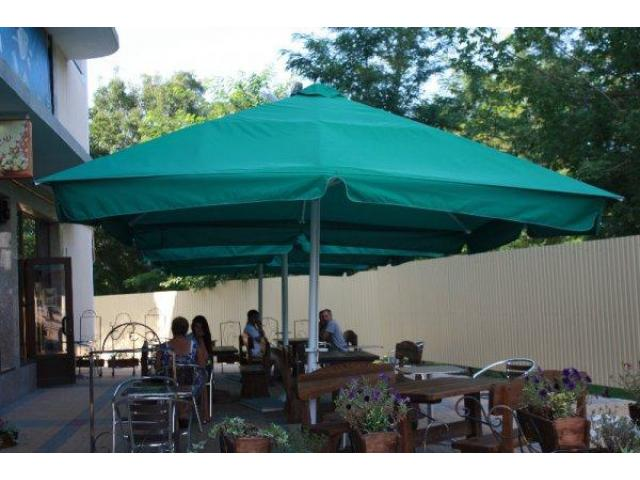 Большие зонты 3х3 м., 4х4 м. 5х5 м. для кафе, ресторанов - 4/5