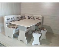 Кухонный уголок в разных цветах из экологически чистого ламинированного дсп